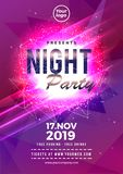 Electro party music night poster template. Electro style concert sport disco party event invitation. Electro party music night poster template. Electro style vector illustration