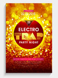 Electro Party Night Flyer, Banner or Template design. Royalty Free Stock Image