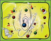 Electro Physics. Additional  format Illustrator 8 eps Royalty Free Stock Photo