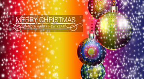 Electro Pulsating Baubles this Christmas Royalty Free Stock Images