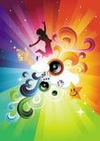 Electro Rainbow Blast Royalty Free Stock Images
