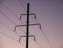 Electro rede Imagens de Stock Royalty Free