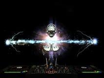 Electro robot DJ Imágenes de archivo libres de regalías