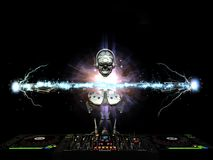 Electro robot DJ Obrazy Royalty Free