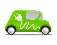 Electro samochodowa kreskówki skrytki ekologia Zdjęcia Stock