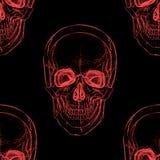 Electro skull. Seamless pattern. Illusion vector illustration