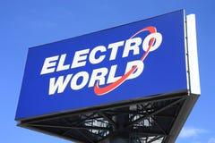 electro värld arkivbild