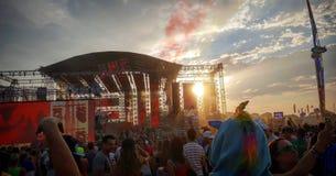 Electrobeach musikfestival royaltyfri foto