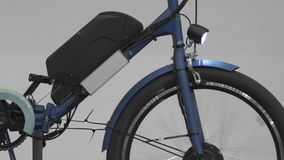 Electrobike koła przędzalnictwo, wystawa wyłączni bicykle, eco transport zdjęcie wideo