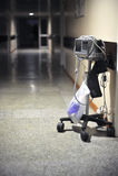 Electrocardiógrafo en hospital Fotografía de archivo libre de regalías