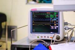 Electrocardiografía en sala de operaciones imágenes de archivo libres de regalías