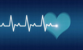 electrocardiogram Royalty-vrije Stock Foto's