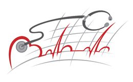 electrocardiogram Royaltyfri Fotografi