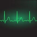 Electrocardiogram. Illustration showing an electrocardiogram on a dark background, vector illustration, eps10 Stock Images