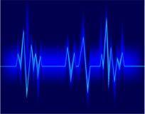 Electrocardiogram. Vector illustration of Electrocardiogram back Stock Images
