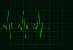 Electrocardiogram green line vector illustration