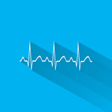 Electrocardiogram, ecg or ekg - medical icon. Stock Photography