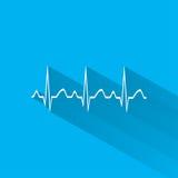 Electrocardiogram, ecg or ekg - medical icon. Vector Stock Photography