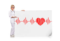 Electrocardiogram and heart Royalty Free Stock Photos