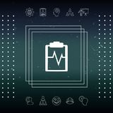 Electrocardiogram icon symbol. Electrocardiogram icon. Element for your design Royalty Free Stock Photo