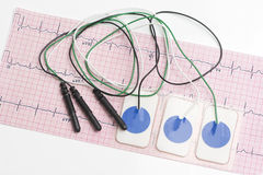 Electrocardiogram Leads Stock Images
