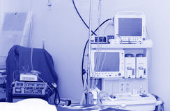 A Electrocardiogram in operation room Royalty Free Stock Images