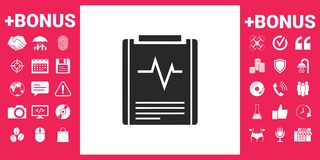Electrocardiogram symbol icon. Element for your design Stock Photos