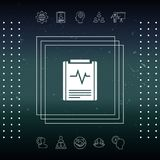 Electrocardiogram symbol icon. Element for your design Royalty Free Stock Images