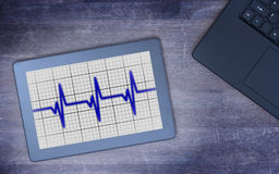 Electrocardiogram on a tablet - Concept of healthcare Royalty Free Stock Photo