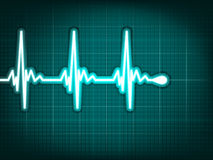 Electrocardiogram track of human heart. EPS 8 Stock Images