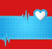 Electrocardiogram.Useful as background for medical,electrocardio Royalty Free Stock Photos