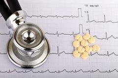 electrocardiograma fotografía de archivo libre de regalías