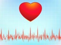 Electrocardiograma-ecg do cardíaco de ataque. EPS 8 Imagens de Stock