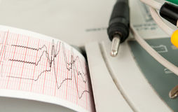 Electrocardiograph machine Royalty Free Stock Photography