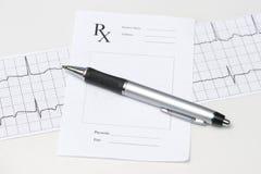 Electrocardiograph Prescription Royalty Free Stock Photos