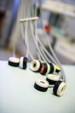 Electrocardiographic czujniki zdjęcia stock