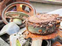 Electrocs waste products polluting the environment. Rusty decomposition of loud speakers.Electrocs waste products polluting the environment Stock Image
