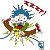 electrocuted человек Стоковые Фото