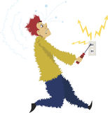 Electrocuted Stock Photo