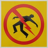 Electrocution danger sign royalty free stock photography
