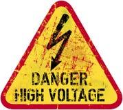 Electrocution warning sign Stock Photo