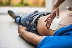 Electrodo del Defibrillator Foto de archivo