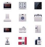 Electrodomésticos del vector fijados. Parte 1 stock de ilustración