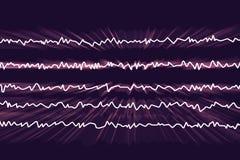 Electroencefalograma de EEG, onda cerebral en estado despierto con actividad mental stock de ilustración