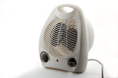 Electrofan heater. Household electric fan heater for heating of premises on a white background Stock Image