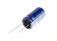 electrolytic blå kondensator arkivfoton