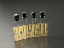Electrolytic capacitors Stock Images
