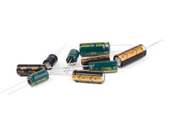 Electrolytic Capacitors royalty free stock photo