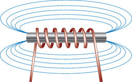 Electromagnet stock illustration
