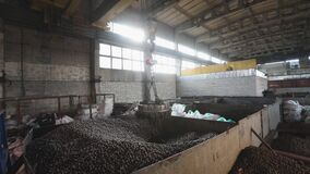 Electromagnetic crane with metal balls, With Moving Electromagnetic Cranes, production of balls, manufacture of bearings